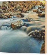 Saturation Of A River Wood Print