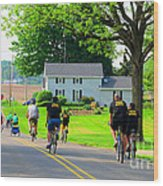 Saturday Bike Ride Wood Print by Tina M Wenger