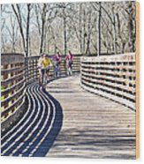 Saturday Riding Wood Print