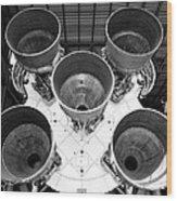 Saturn Five Rocket Work B Wood Print