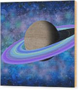 Saturn Journey Wood Print