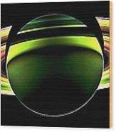 Saturn Shadow Wood Print