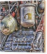 Saturn V J-2 Rocket Engine Wood Print