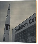 Saturn V Rocket Engine Detail, Used Wood Print