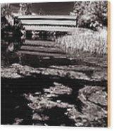 Saucks Bridge Down Stream Wood Print