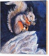 Saucy Squirrel Wood Print