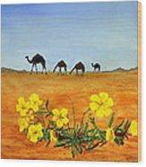 Saudi Arabian Desert Wood Print
