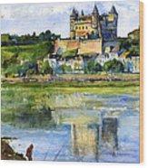Saumur Chateau France Wood Print