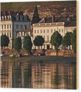 Saumur Reflected Wood Print