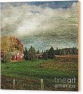 Sauvie Island Farm Wood Print