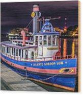 Savannah Belle Dot Ferry Wood Print