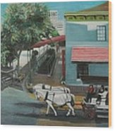 Savannah City Market Wood Print
