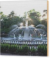 Savannah Georgia Forsyth Park Fountain Wood Print