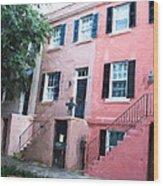 Savannah Georgia Shades Of Pink Wood Print