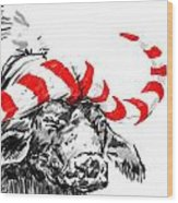 Savannah Greetings Buffalocoal Crop 1 Wood Print