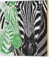 Savannah Greetings Zebra Cane Full Green Variant Wood Print