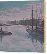 Savannah Harbor 1900 Wood Print