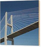 Savannah River Bridge Georgia Usa Wood Print