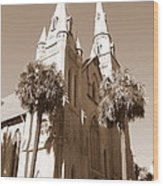 Savannah Sepia - Methodist Church Wood Print