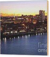 Savannah Skyline At Dusk Wood Print