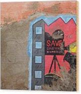 Save Cinema In Morocco Wood Print
