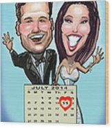 Save The Date Wood Print