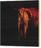 Save The Elephant Wood Print