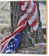 Save The Flag Wood Print