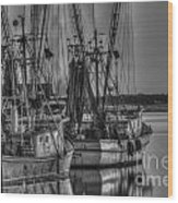 Save The Lowcountry Shrimping  Wood Print