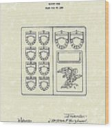 Savings Book 1926 Patent Art Wood Print by Prior Art Design