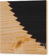 Saw Shadow Wood Print by Stephan Pietzko