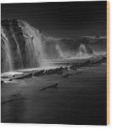 Sawarna Beach Wood Print