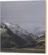 Sawtooth Mist Wood Print