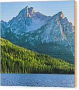 Sawtooth Mountains And Stanley Lake Wood Print