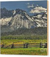 Sawtooth Mountains Wood Print