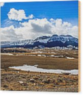 Sawtooth Ridge Wood Print