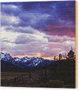 Sawtooth Sunset Panorama Wood Print