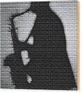 Sax On The Bricks Wood Print