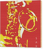 Saxy Red Poster Wood Print