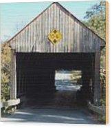 Sayres Covered Bridge Wood Print