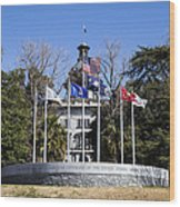 Sc Veterans Monument Wood Print