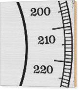 Scale Numbers Wood Print