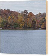 Scales Lake In Autumn Wood Print by Sandy Keeton