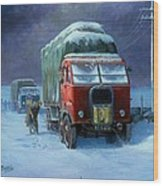 Scammell R8 Wood Print by Mike  Jeffries