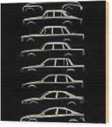 Scandinavian Sedan Silhouettehistory Wood Print