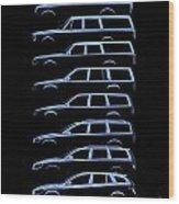 Scandinavian Wagon Silhouettehistory Wood Print