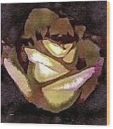 Scanned Rose Water Color Digital Photogram Wood Print