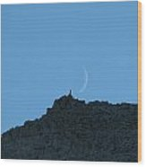 Scapegoat Rocks With Moon Wood Print