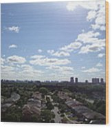Scarborough City View Wood Print