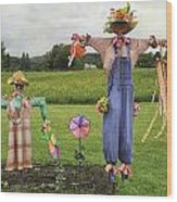 Scarecrows Wood Print